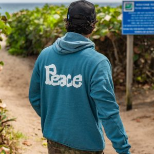 Unisex Double Peace Pullover Hoodie