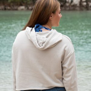 Womens G.O.P. Lines Cropped Pullover Hoodie