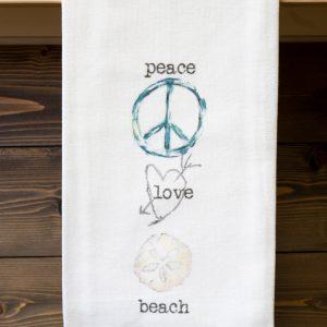 French Graffiti Peace Dishtowel