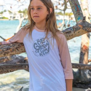 Youth-Be-Groovy-Baseball-Tee-White/Pink3