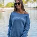 Womens-Hippie-Soul-Wide-Neck-Fleece-Blue-Triblend